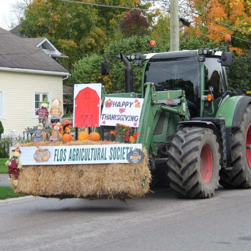 tractor parade in Elmvale